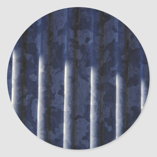 Metal Grooves Round Stickers