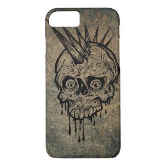 Metal Grunge Head Skull iPhone 7 case