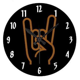 Metal Hand Large Clock