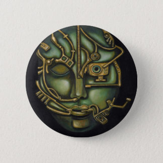 Metal Head 6 Cm Round Badge