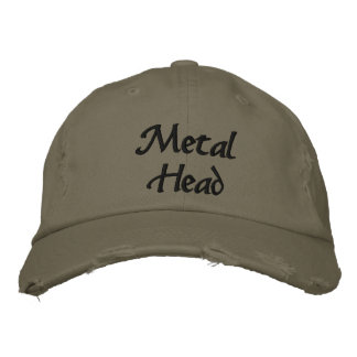 Metal Head Embroidered Embroidered Hat
