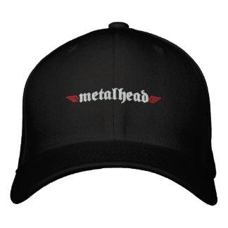 Metal Head Hat w/Skull on Back