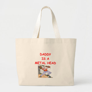 METAL head Large Tote Bag