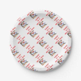 METAL head Paper Plate