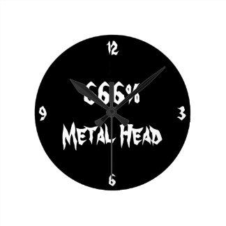 Metal Head Round Clock