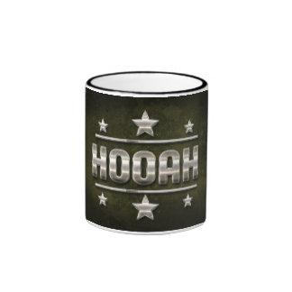 Metal Hooah Text Coffee Mugs