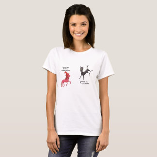 Metal-Horned Unicorn Couple - Alumna and Iown T-Shirt