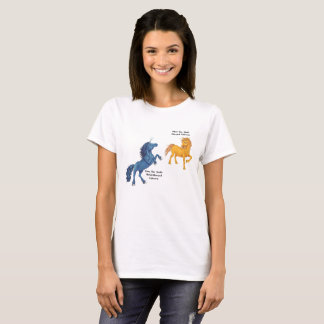 Metal-Horned Unicorn Couple - Osm and Ghel T-Shirt