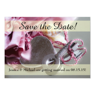 Metal Journey Key Save the Date Card w/ Envelope 13 Cm X 18 Cm Invitation Card