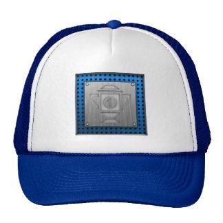 Metal-look 1st Place Trophy Mesh Hats