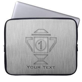 Metal-look 1st Place Trophy Laptop Computer Sleeve