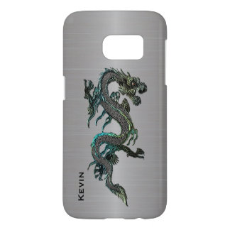 Metal Look Asian Dragon Samsung S7 case