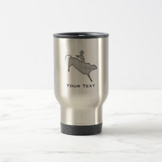 Metal-look Bull Rider Travel Mug