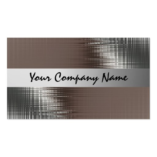 Metal Look Business Cards