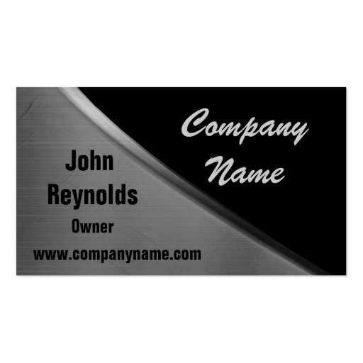 Metal Look Curve Business Cards