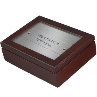 Metal Look custom keepsake box