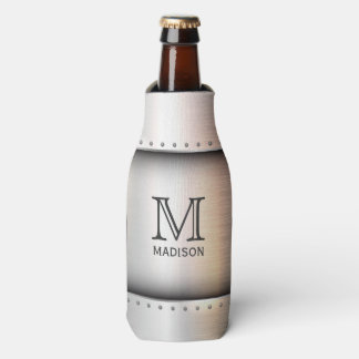 Metal Look custom monogram bottle cooler