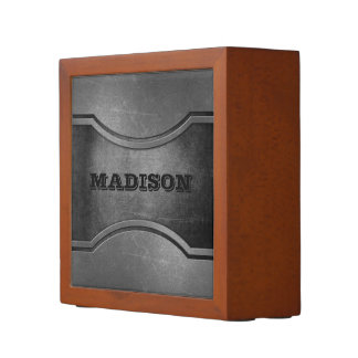 Metal Look custom name desk organizer