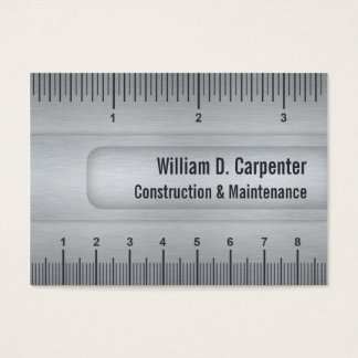 Metal Look Ruler Tradesman and Technical Field Business Card