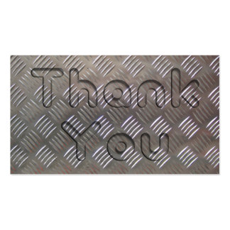 Metal Look Thank You Business Card