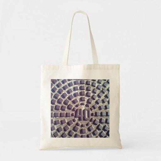 Metal Manhole cover number 40 Tote Bag