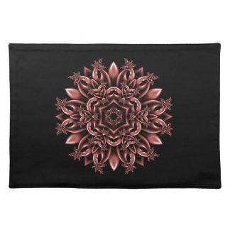 Metal mask daisy placemats