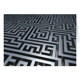 Metal Maze Note Card