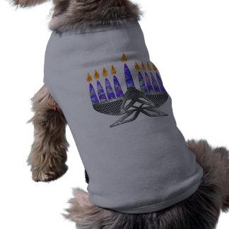 Metal Menorah Dog Shirts