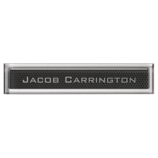 Metal Mesh & Chrome Frame Name Plate