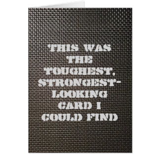 Metal mesh tough & strong card