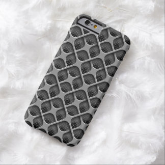 Metal Metallic Bronze Holes Mesh Background Barely There iPhone 6 Case