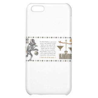 Metal Monkey born in Libra 1980 Case For iPhone 5C
