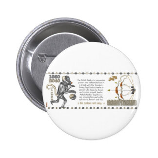 Metal Monkey zodiac Sagittarius 1980 Buttons