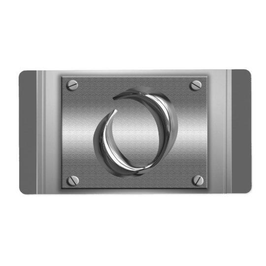 Metal Monogram Initial Letter O Labels