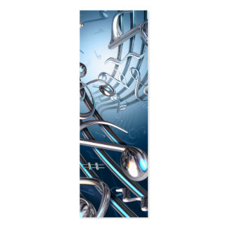 Metal Musical Notes Abstract Business Card Templates