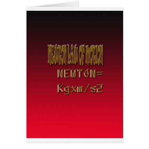 Metal Newton Law Of Motion Greeting Card