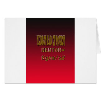 Metal Newton Law Of Motion Cards