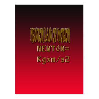 Metal Newton Law Of Motion Postcards