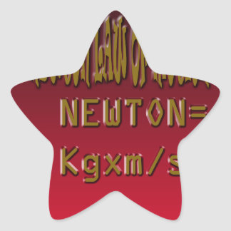 Metal Newton Law Of Motion Star Stickers