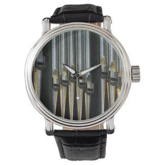 Metal organ pipes watch