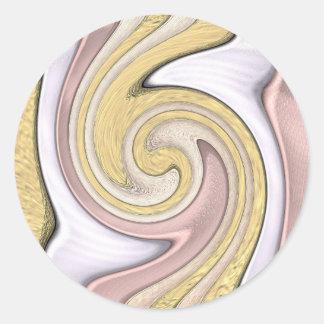 Metal pattern with shine classic round sticker