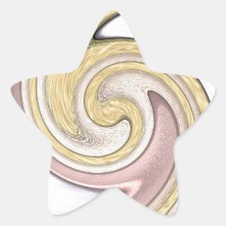Metal pattern with shine star sticker