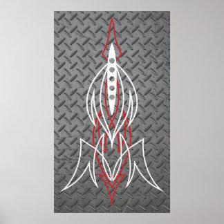 Metal Pinstriping Print