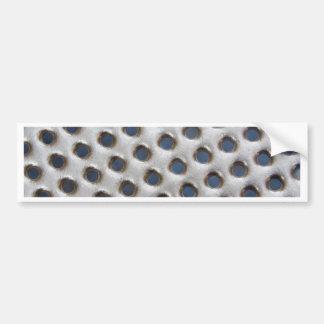 Metal plate bumper sticker