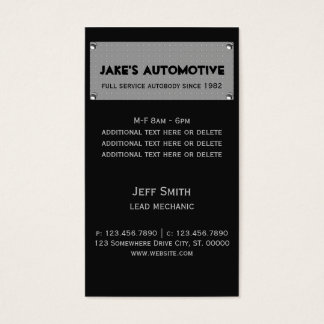 Metal Plate Business Card