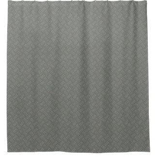 Metal Plate Designer Shower Curtain by Julie