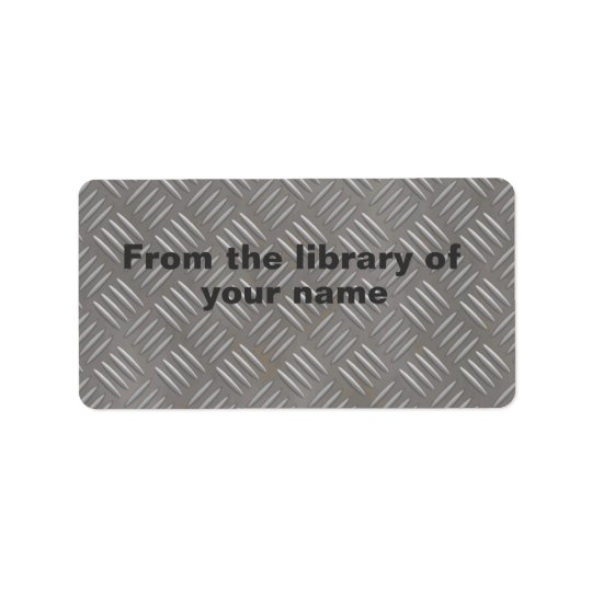 Metal Plate Look Custom Name Book Plate Label Address Label