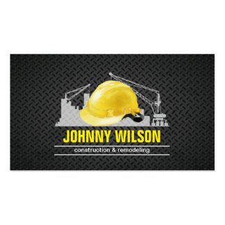 Metal Plate Safety Helmet Building Construction Pack Of Standard Business Cards