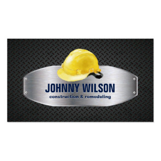 Metal Plate Safety Helmet Construction Renovation Pack Of Standard Business Cards