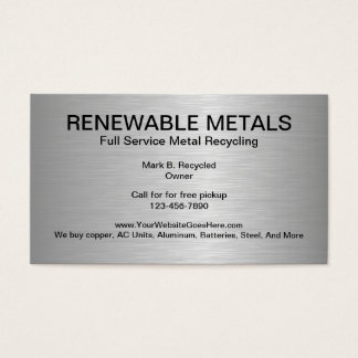 Metal Recycling Business Cards